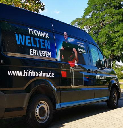 Fahrzeugbeschriftung für hifiboehm Plauen